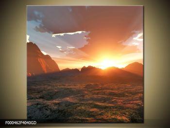 Obraz západu slunce (F000462F4040GD)