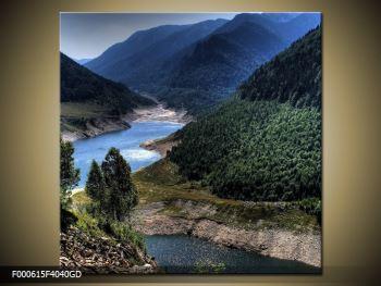 Obraz řeky a hor (F000615F4040GD)