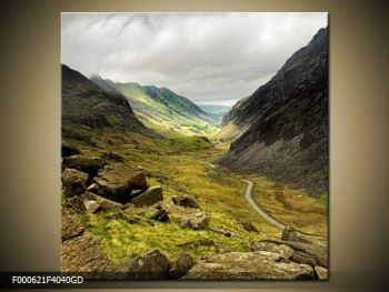 Obraz cesty uprostřed hor (F000621F4040GD)