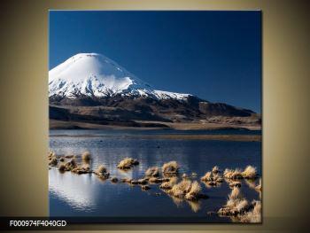 Obraz zasněžené hory (F000974F4040GD)