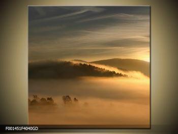 Obraz hor v mlze (F001451F4040GD)