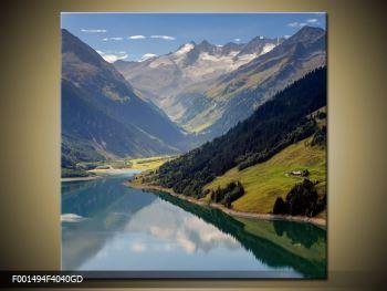 Obraz horského údolí (F001494F4040GD)
