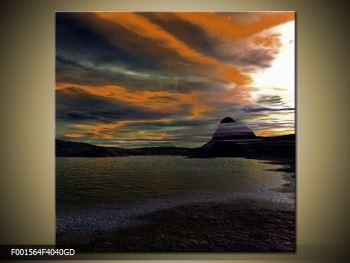 Obraz moře v temné obloze (F001564F4040GD)