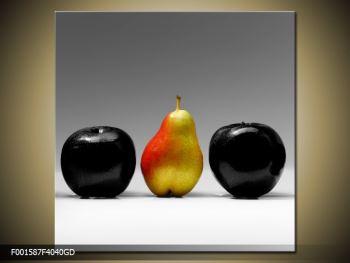 Obraz dvou jablek a hrušky (F001587F4040GD)