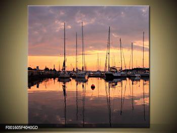 Obraz přístavu (F001605F4040GD)