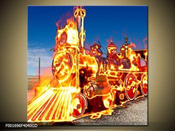 Obraz ohnivé lokomotivy (F001696F4040GD)
