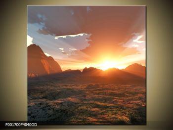 Obraz západu slunce nad horama (F001700F4040GD)
