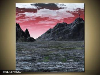 Obraz skalnaté přírody (F001712F4040GD)