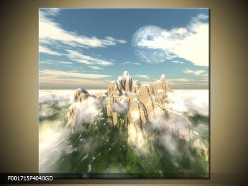 Obraz zasněžených vrcholů skal (F001715F4040GD)
