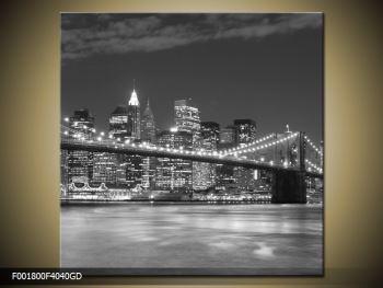 Moderní obraz - New York (F001800F4040GD)