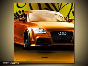 Obraz oranžové Audi (F002351F4040GD)