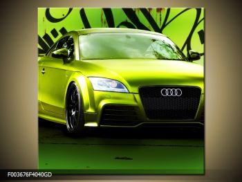 Obraz zelené Audi  (F003676F4040GD)