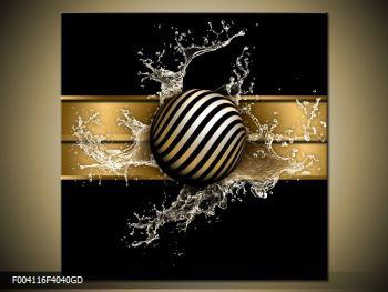 Obraz pruhované koule a vody (F004116F4040GD)