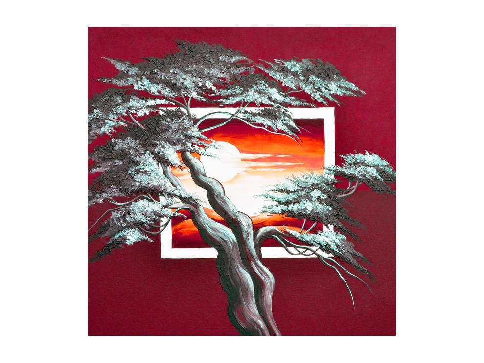 Moderní obraz stromu a východu slunce (K014022K5050)