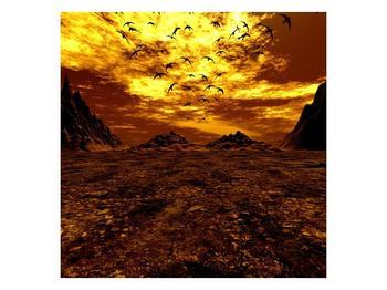 Obraz vyprahlého údolí (F000287F5050)