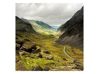 Obraz cesty uprostřed hor (F000621F5050)