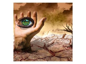 Obraz oka na dlaňi (F001485F5050)