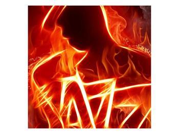 Obraz ohnivé postavy (F001691F5050)