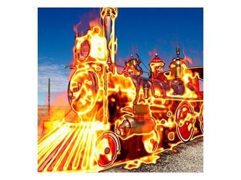 Obraz ohnivé lokomotivy (F001696F5050)