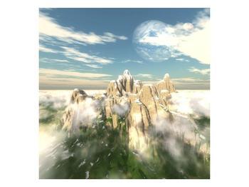 Obraz zasněžených vrcholů skal (F001715F5050)