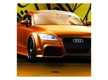 Obraz oranžové Audi (F002351F5050)