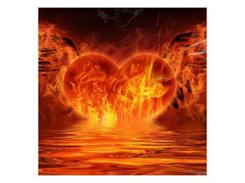 Obraz hořícího srdce s křídly  (F002884F5050)