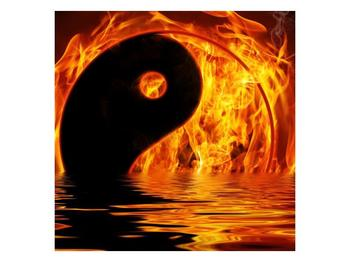 Obraz hořícího Jin Jangu  (F002885F5050)
