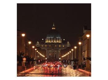 Obraz nočního pohledu na Vatikán  (F002964F5050)