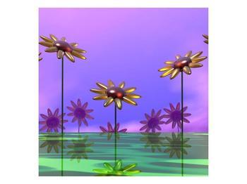Moderní obraz skleněných květin (F004008F5050)
