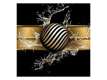 Obraz pruhované koule a vody (F004116F5050)
