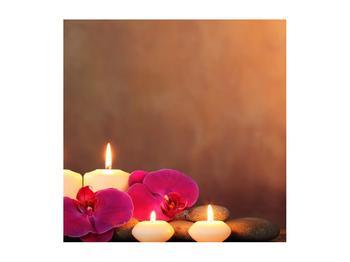 Tablou relaxant cu lumănâri și orhidee (K011120K5050)