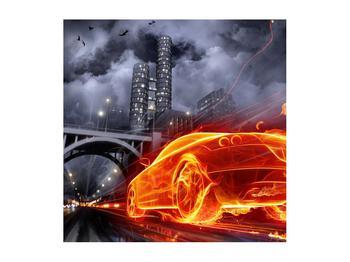 Tablou cu mașina arzând (K011167K5050)