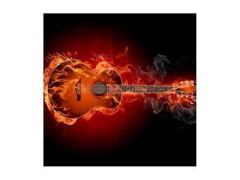 Lángoló gitár képe (K011168K5050)