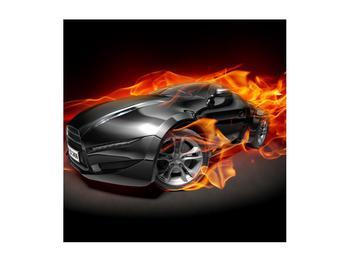 Tablou cu mașina arzând (K011174K5050)