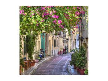 Obraz středomořské letní uličky (K011282K5050)