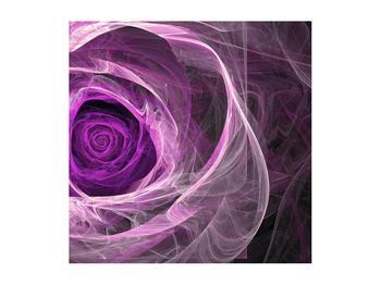 Moderný obraz fialovej ruže (K011482K5050)