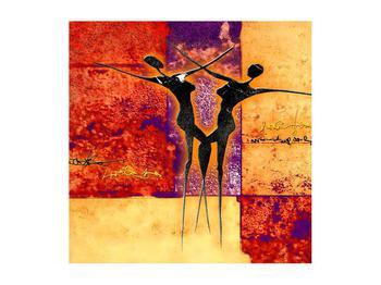 Tablou abstract cu doi dansatori (K011975K5050)