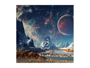 Tablou cu peisaj montan cu planete (K012168K5050)