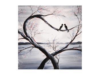 Tablou cu păsări îndrăgostite (K012516K5050)