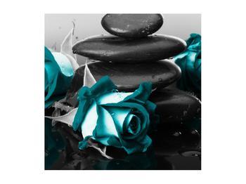 Tablou cu trandafiri albastre (K012553K5050)