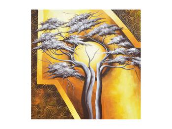 Orientální obraz stromu a slunce (K014067K5050)