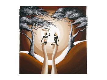 Orientální obraz dvou žen a stromu  (K014682K5050)
