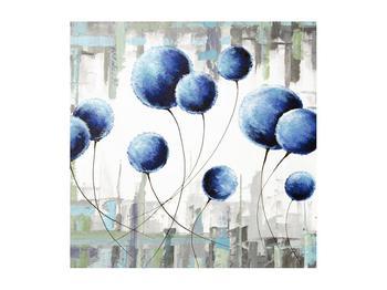 Abstraktní obraz - modré balónky (K014707K5050)