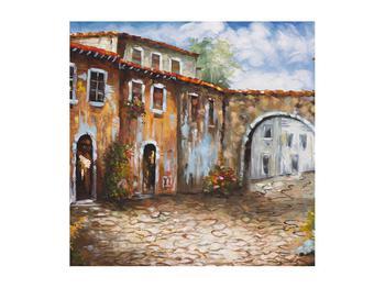Obraz malované středomořské uličky (K014855K5050)