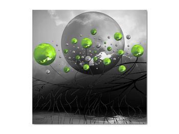 Obraz zelených abstraktných gulí (V020103V5050)
