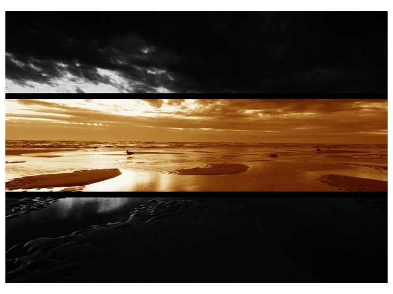 Dvroubarevný obraz moře (F001957F7050)