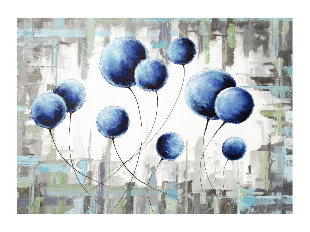 Abstraktní obraz - modré balónky (K014707K7050)