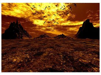 Obraz vyprahlého údolí (F000287F7050)