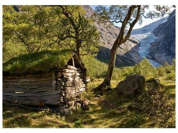 Obraz horské chatrče (F001636F7050)