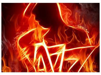 Obraz ohnivé postavy (F001691F7050)
